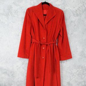 Red Skin Gear II Non Leather Suede Trench Coat